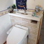 北欧風にアレンジ!!DIYタンクレス風トイレ
