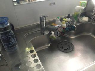 キッチン水栓交換工事